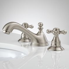 Talara Widespread Bathroom Faucet - Brushed Nickel | Signature Hardware