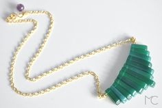 Agate Geometrical Necklace by mariacorcuera on Etsy, €40.00