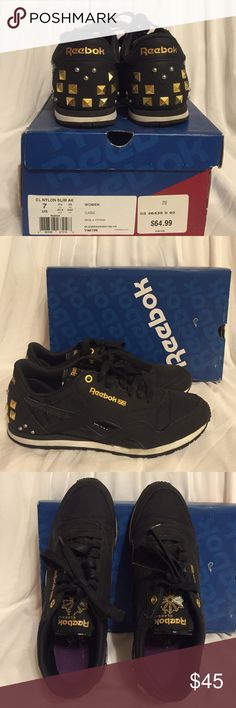 Alicia Keys Reeboks Used Reeboks Nylon Slim in Alicia Keys edition. SOLD OUT EVERYWHERE! Very comfortable! Comes with white shoe laces too. I accept reasonable offers! SIZE 7 Reebok Shoes Athletic Shoes