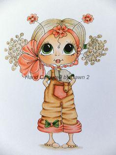 Ooak Sherri Baldy Card Topper - Handcoloured By Dawn 2