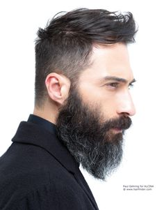 undercut hairstyle with beard - Google Search