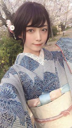 Samurai, Modern Kimono, Japanese Outfits, Yukata, Japanese Girl, Traditional Outfits, Asian Girl, Kawaii, Photos