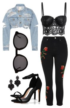 """""""Untitled #155"""" by gabi16gabriela on Polyvore featuring Topshop, H&M, Boohoo, Thierry Lasry and Tasha"""