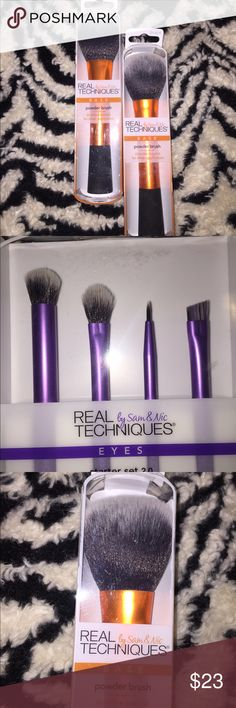 Bundle deal! Real Techniques brushes! Real Techniques Eye Brush Set with a base Power Brush! Sephora Makeup Brushes & Tools