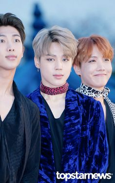 •161116 #BTS RAPMONSTER, JIMIN & JHOPE @ Red Carpet of Asia Artist Awards || Blood Sweat & Tears