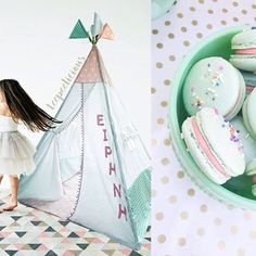 Personalize your #teepeelicious #hamdmade #teepee #unique #nurserydecor #kidsroominspo #decoration #girly #customade #macaron #irene #yourname #pink #mintgreen #dance #kids #happykids #tipi #glamping Kidsroom, Happy Kids, Girls Bedroom, Irene, Glamping, Mint Green, Nursery Decor, Girly, Dance