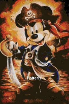 Hey, j'ai trouvé ce super article sur Etsy, chez https://www.etsy.com/fr/listing/179035272/mickey-mouse-pirate-cross-stitch-pattern