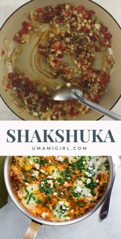 This shakshuka recipe is one of our favorite ways to have eggs for dinner, and it's equally great for brunch. It's a quick, easy, one-pan meal that's full of comfort and flavor. recipes for dinner easy videos Easy Shakshuka Recipe with Feta Shakshuka Recipes, Veggie Recipes, Vegetarian Recipes, Cooking Recipes, Healthy Recipes, Lasagna Recipes, Healthy Breakfasts, Pasta Recipes, Salads