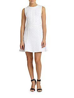 Leyna Ponte Dotted Dress
