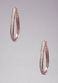Teardrop Hoop Earrings