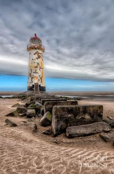 ✯ Abandoned Lighthouse at Point of Ayre, Talacre Beach, Flintshire, North Wales, UK