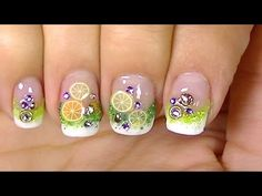 Refresh Yourself ,Lemon Cocktail Fimo Fruits,Simple  Nail Design - YouTube