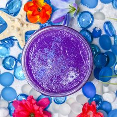 THE REALM Jelly Soap - $9.99 Lalotai! Plunge deep into the depths of this jelly soap of legendary monsters! Few mortals have ever used this jelly soap, but this is where you will find Maui's fishhook amongst ripened plums dunked in coconut milk and black raspberry jam. (Purple Sample)