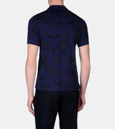 ZEGNA SPORT: Polo Manches Courtes Piqué Col polo Fermeture avec boutons B Bleu, Détail 4 - 37524875DR