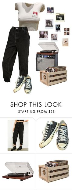 """ode to viceroy"" by kayleyrobert ❤ liked on Polyvore featuring Urban Renewal, Converse, Dot & Bo, Crosley, Polaroid and vintage"