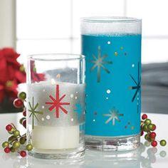 Snowflake Motif Candleholders