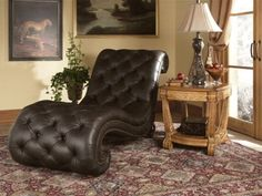 Michael amini furniture on pinterest furniture design for Aico trevi leather armless chaise in brown