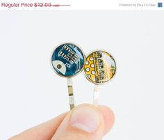 Geeky hair pin - recycled circuit board - bobby pin for techie girl by ReComputing on Etsy https://www.etsy.com/listing/200829367/geeky-hair-pin-recycled-circuit-board