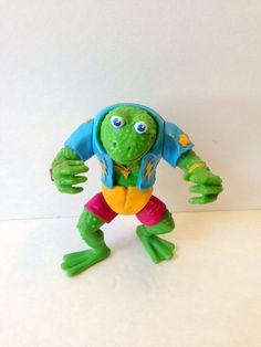 TMNT Genghis Frog // Teenage Mutant Ninja Turtles by GodsofVintage, $15.95