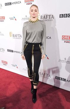 Keeping busy: On Saturday, Sophie had been celebrating BAFTA at the BAFTA Los Angeles tea ...