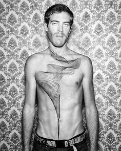 Based in Berlin, tattoo artist Chaim Machlev creates amazing geometric tattoos using a technique called stippling.