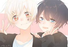 Cute Anime Chibi, Kawaii Chibi, Cute Anime Pics, Cute Anime Boy, Kawaii Anime, Anime Amor, Manga Anime, Anime Friendship, Anime Galaxy