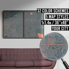 FREE SHIPPING WITHIN EU AND USA  We really love maps. Map prints, map posters, map illustrations. Our map designs consist 32 color schemes and 5 styles to choose from. Maps are very detailed and fully customizable if needed.    #mapprint #mapart #citymap #citymapprint #citymapposter #mapwallart #mapposter Map Posters, City Map Poster, Map Wall Art, Map Art, Map Illustrations, Simple Poster, Custom Map, Map Design, City Maps
