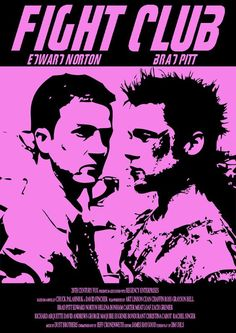 """A redesign of the poster for the cult film, """"Fight Club"""" starring Brad Pitt and Edward Norton. Pulp Fiction Art, Science Fiction Art, Fight Club, Brad Pitt, Marla Singer, Frankenstein Art, Iron Man Art, Minimalist Graphic Design, Poster Design Layout"""