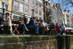 Amsterdam waterside terrace - lunch like the locals!