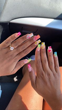 Colored Acrylic Nails, Acrylic Nails Coffin Short, Simple Acrylic Nails, Square Acrylic Nails, Summer Acrylic Nails, Best Acrylic Nails, Acrylic Nail Designs, Summer Nails, Nail Design Stiletto