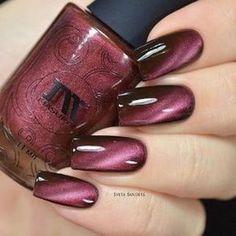 Dark Red Nails