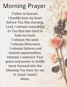 Morning Prayer!