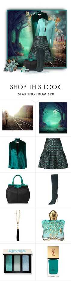 """Autumn Leaves"" by loveroses123 ❤ liked on Polyvore featuring Galvan, Dolce&Gabbana, Salvatore Ferragamo, Sergio Rossi, Oscar de la Renta, Anna Sui, Bobbi Brown Cosmetics and Yves Saint Laurent"