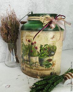 """Utensilio de la cocina.  Masters - Feria artesanal """"hierbas provenzales"""" - Botellas-vase ..  Hecho a mano."""
