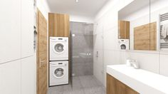 Dobryinterier.sk Stacked Washer Dryer, Washer And Dryer, Laundry, Home Appliances, Laundry Room, House Appliances, Washing And Drying Machine, Appliances, Laundry Rooms