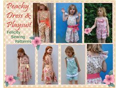 Peachy Dress & Playsuit with 6 style options http://www.felicitysewingpatterns.com/product/new-spring-pattern-release-peachy-dress-playsuit-girls-dress-and-romper-sewing-pattern-6-sty