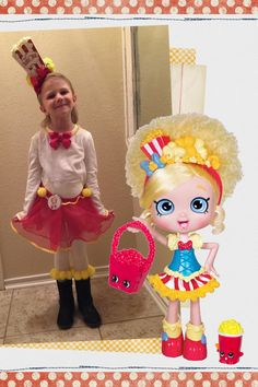 Shopkins Shoppies inspired costume:  Popette #plainfancy #halloween #costume #shopkins