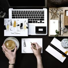 """Cindy Chen on Instagram: """"Monday morning desktop situation with an... ❤ liked on Polyvore featuring home, home decor and stationery"""