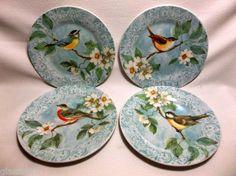 Vintage Susan Winget SPRING SOCIAL Dessert Plates