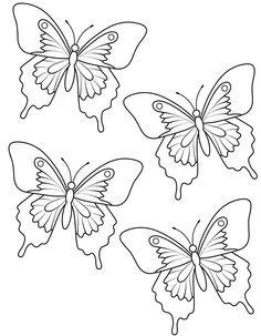 butterfly templates and printables that can be used to create decorations such as butterfly garland - Butterfly Template Free
