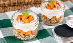 Apricot Cheesecake in a Jar