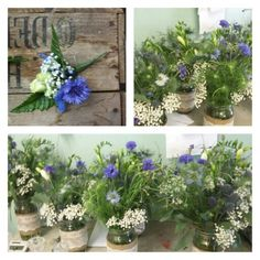 Blue and white country wedding