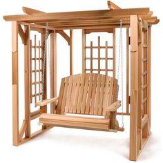 Ceder Pergola Swing Set, $1 080.00