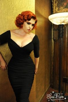 Pinup Couture - 50s Monica Dress in Black from Laura Byrnes Black Label jurk