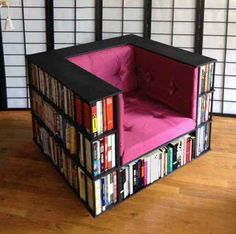 Bookshelf chair - 28 Things Every Bookworm Should Have in Their Dream Home