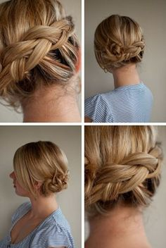 Braided updo hairstyle for tender girls