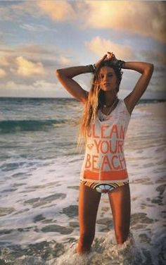 Clean up the ocean!!!! #fashiontakesaction