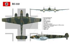 Bf-110C LG1 3-View by WS-Clave.deviantart.com on @DeviantArt