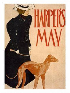 Ukelele's kennel Whippet: Whippets y galgos en el arte: Art Nouveau