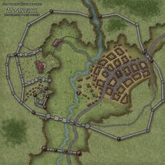Moonfair City Map